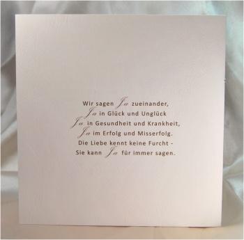Gestaltung der Hochzeitskarte mit Sprüchen Ihrer Wahl