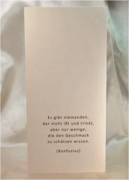 """www.my-own-story.de - Menükarte aus dem Hochzeitskarten-Set """"Heart of Sand"""" bedruckt mit einem ..."""